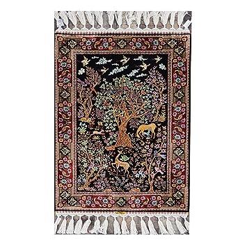 Amazon Com Yilong 2 X3 Silk Carpet And Rugs Handmade Oriental