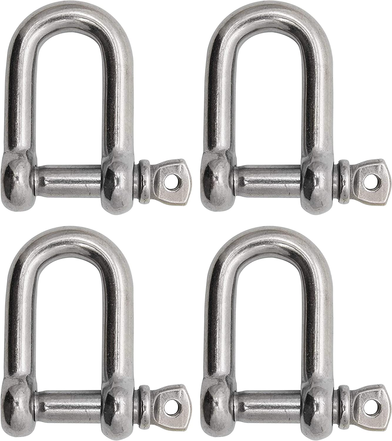 Extreme Max 3006.8255.2 BoatTector Stainless Steel D Shackle 7//8 2-Pack