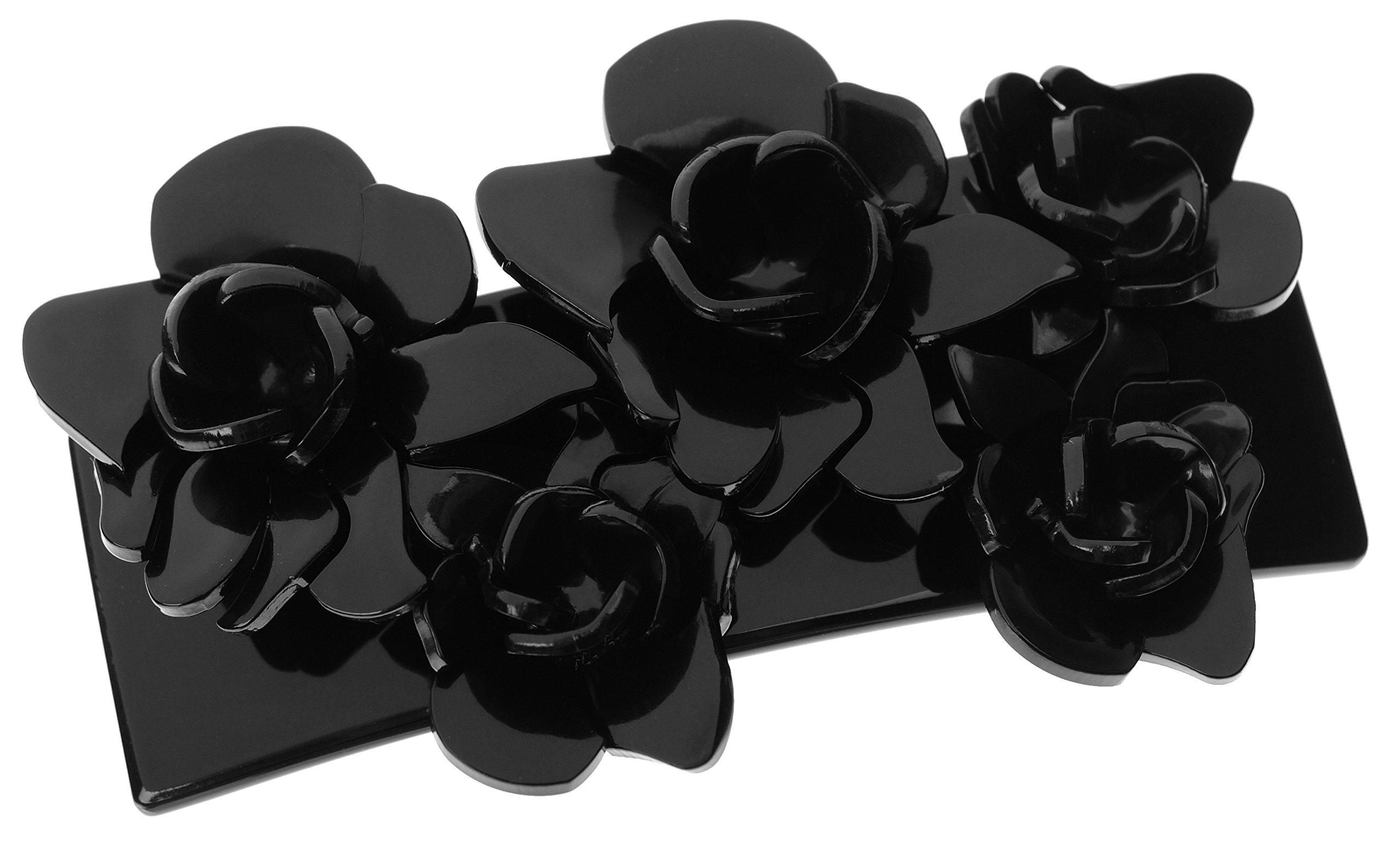 L. Erickson Giverny Rose Barrette - Black/Black