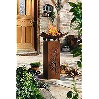 Feuerschale Corten bronze XL Fire Bowl ✔ rund ✔ rostig (Edelrost)