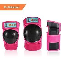 SeHan Inliner Schoner Set für Kinder ab 3 bis 12 Jahre - 6 in 1 Schutzausrüstung Set mit 2 Knieschoner, 2 Ellbogenschoner, 2 Handgelenkschoner, Ideal für Skateboarden,Radfahren,Roller oderSki Fahren.