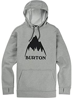 Burton Mens Oak Pullover Hoodie, Monument Heather, Large