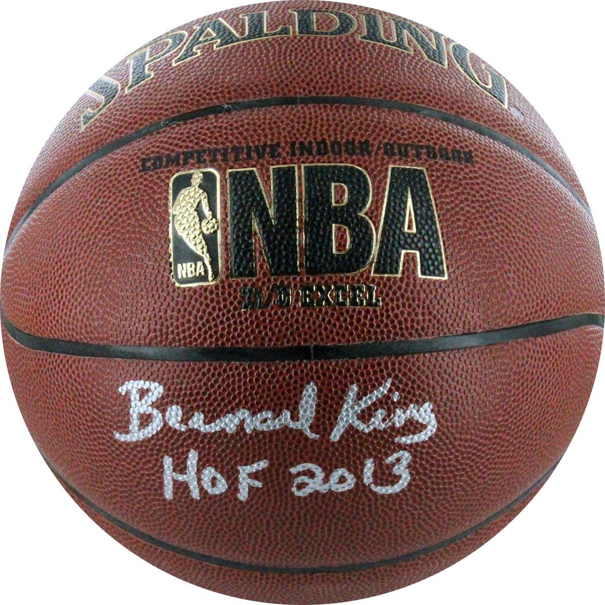 NBA New York Knicks Bernard King Autographed Basketball with ''HOF'' Inscription by Steiner Sports
