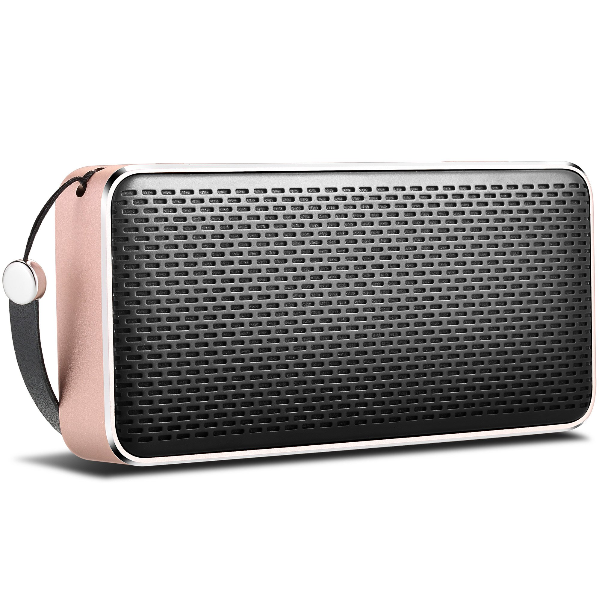 Gladorn SoundShow Wireless Portable Bluetooth V4.0 Speaker with 20 Hours Playtime,HD Sound with Enhanced Bass,Built-in Microphone and Smartphone Charging for Outdoor -Rose Gold