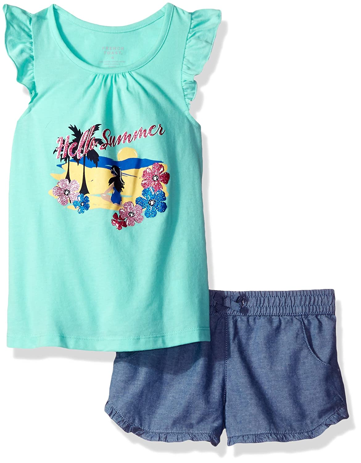 French Toast Baby Girls Ruffle Short