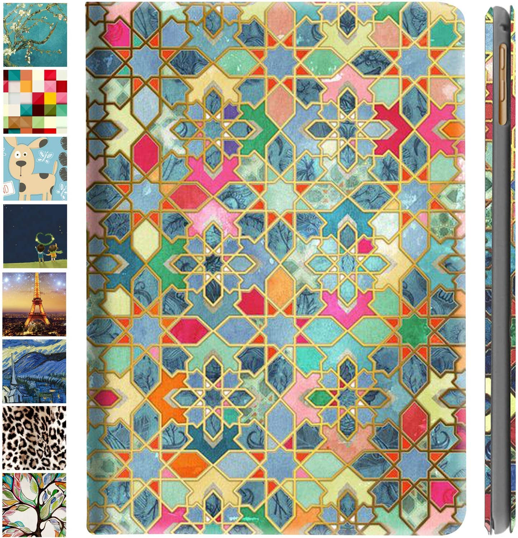 DuraSafe Cases For iPad Mini 5 4 Generation 7.9 MK6K2LL/A MK6J2LL/A MK6L2LL/A MUQY2LL/A MUQW2LL/A MUQX2LL/A Ultra Slim Printed Smart PU Leather Flip Folio Book Cover - Damask