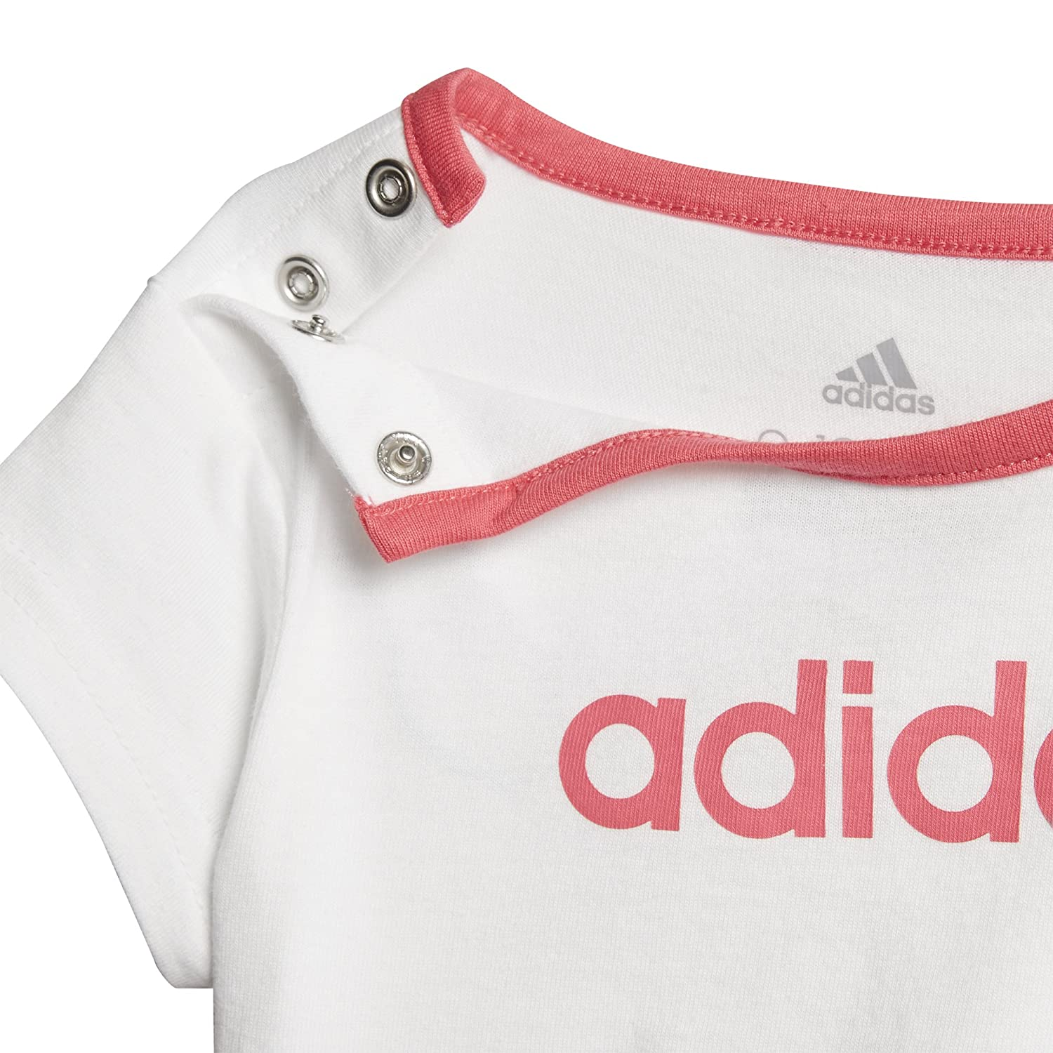 adidas Infant Girls Summer Easy Set, White/Chalk Pink, 2T adidas Canada Limited Parent Code - SPORTS CF7413