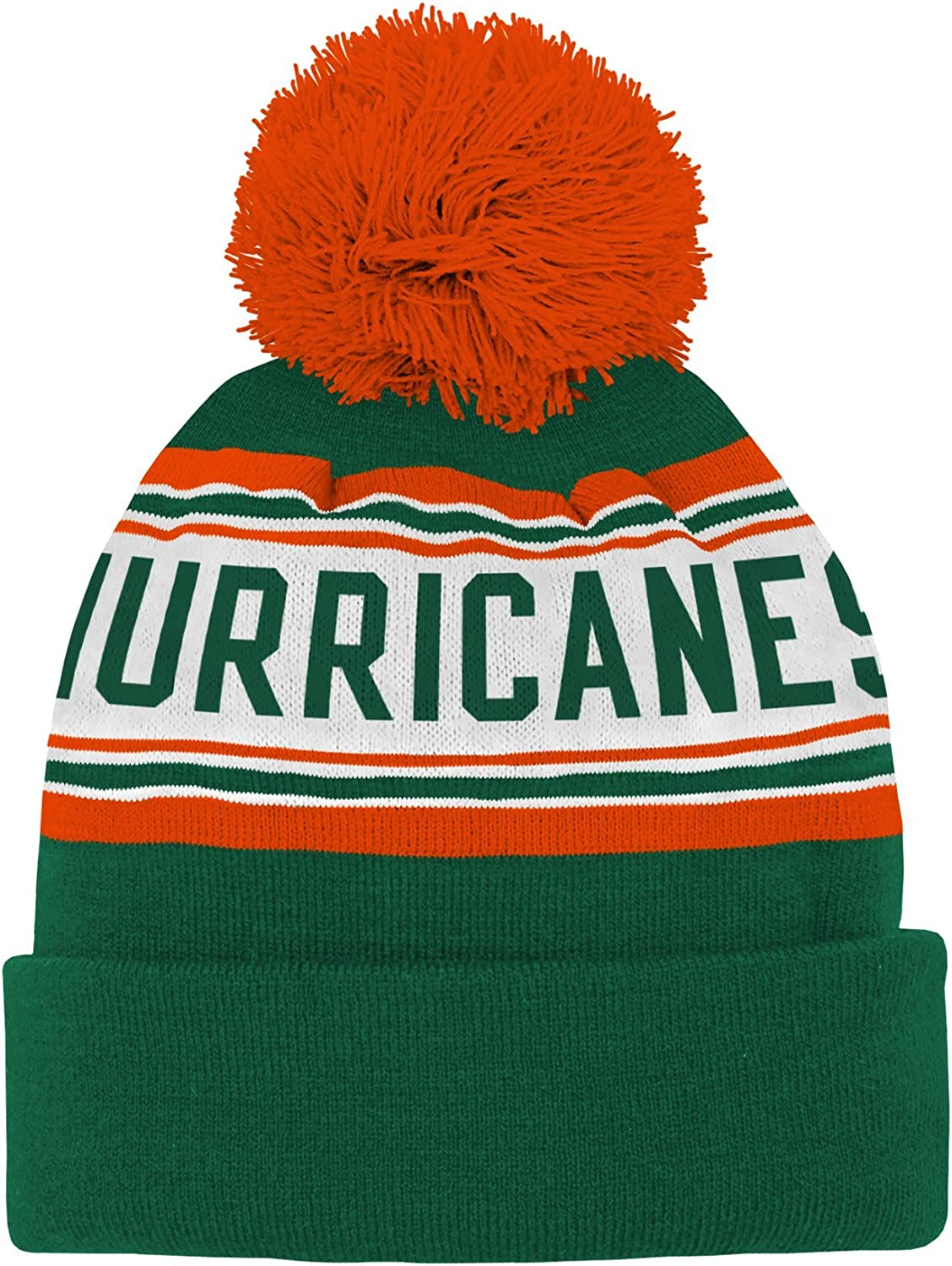 Outerstuff NCAA Unisex-Child Jacquard Cuffed Knit Hat with Pom