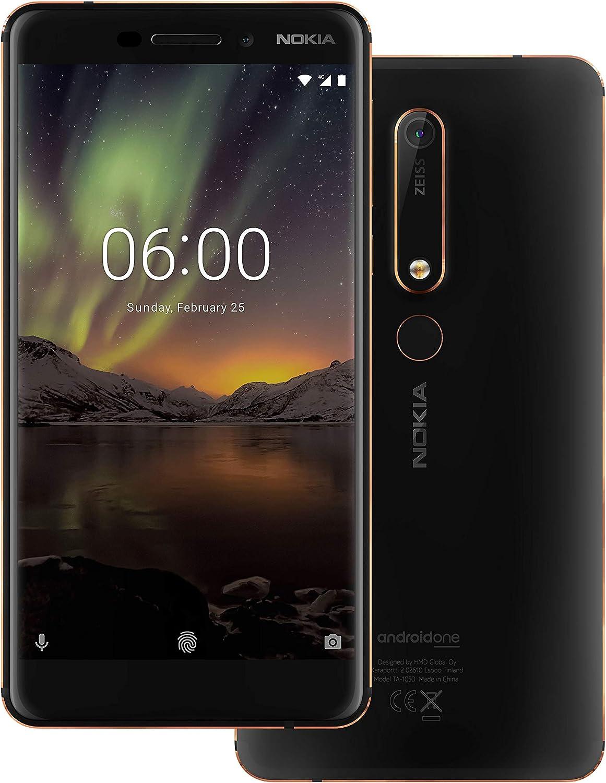 Nokia 6 (2018) Dual SIM 64GB TA-1068 Negro SIM Free: Amazon.es ...