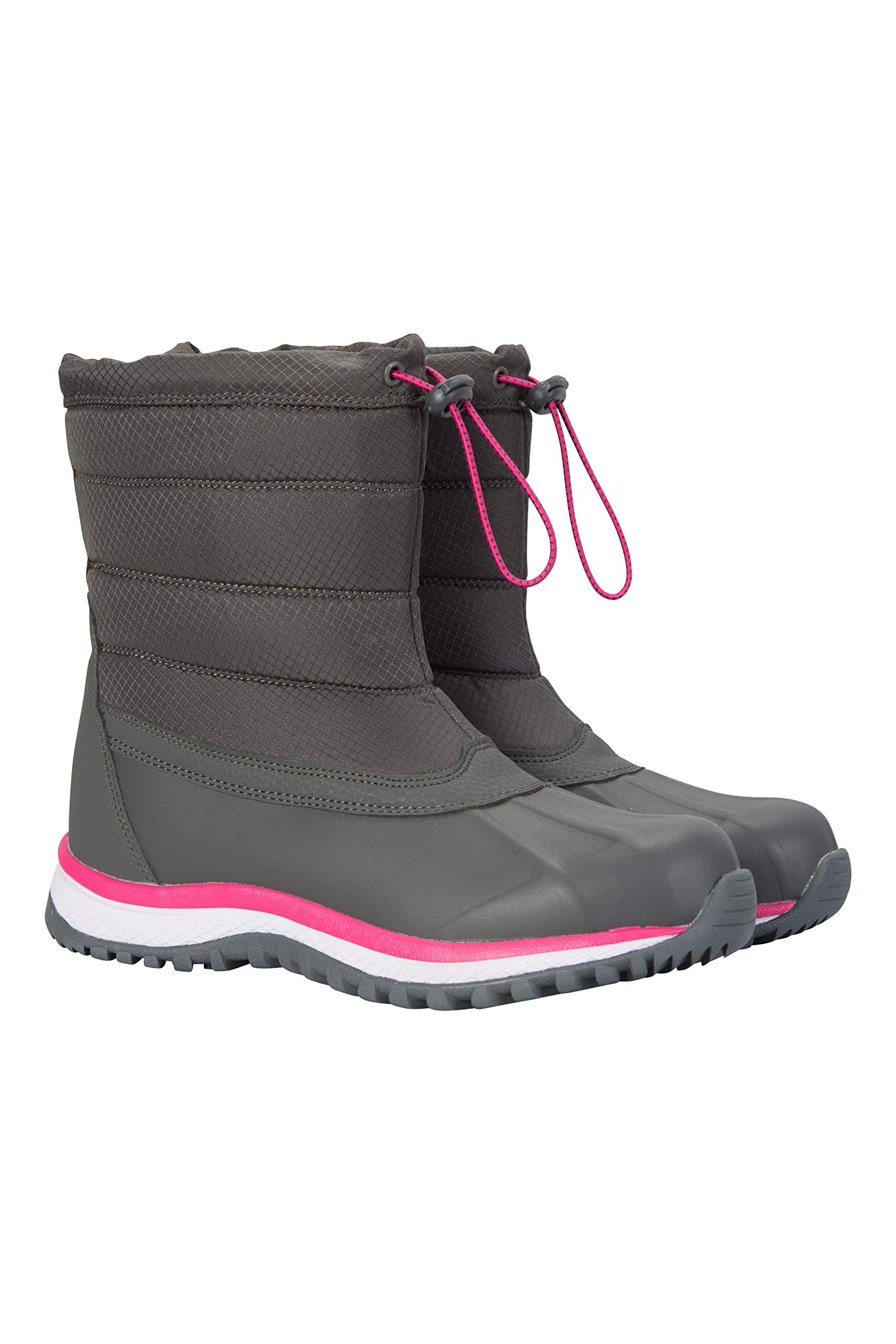 Mountain Warehouse Glacier Womens Snow Boots - Pull On Winter Boots Grey 9 M US Women