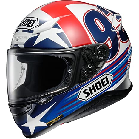 Shoei NXR Marquez Indy casco de moto, White Blue Red