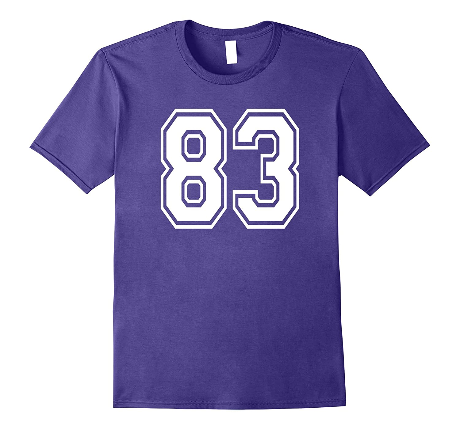 83 Sports Team School Numbers on Front T-Shirt Jersey-Vaci