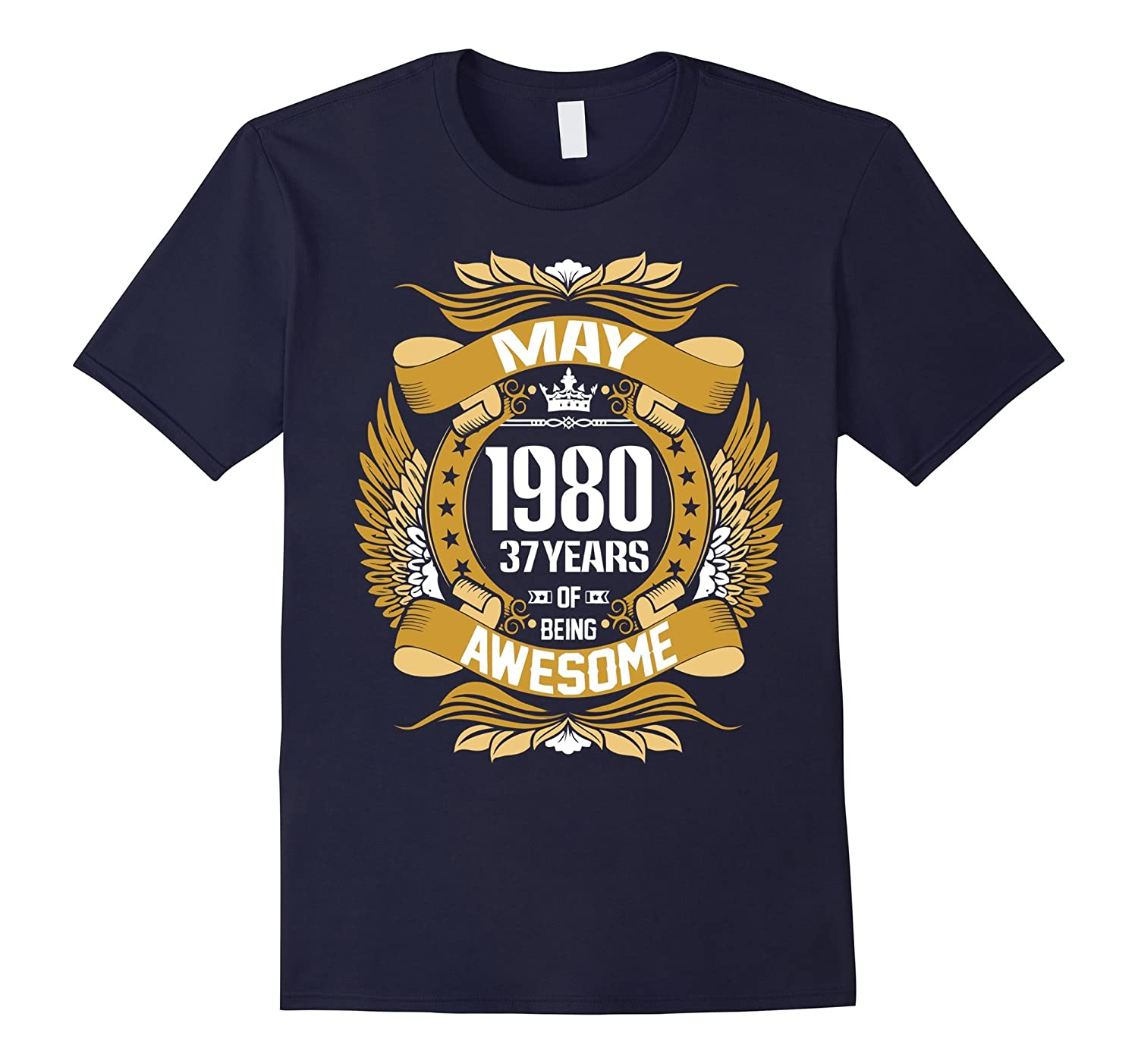 May 1980 37 years of being awesome t shirt-Vaci