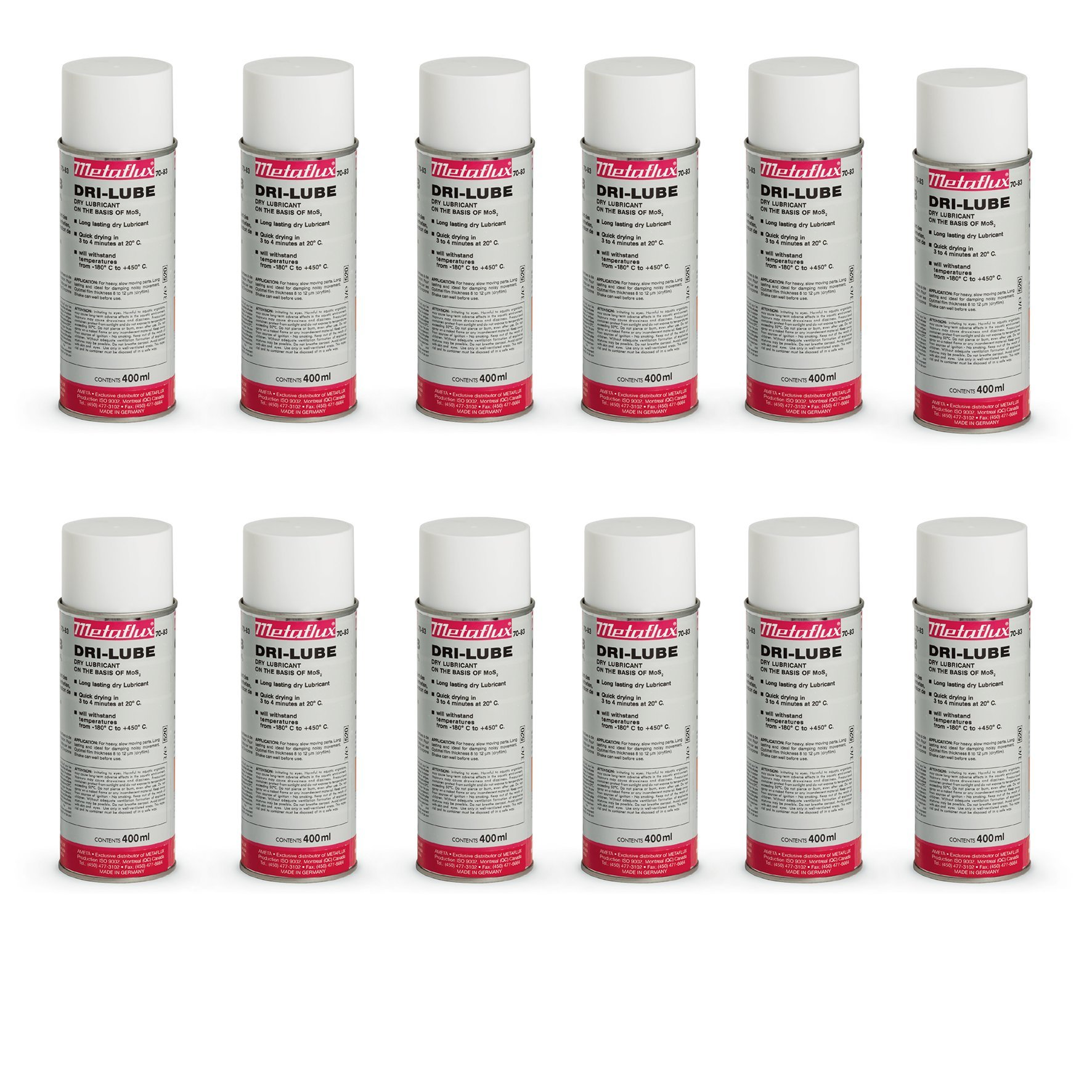 70-83 Dry-Lube Spray Metaflux Mos2 Based Lubricant Corrosion Protection Long-Lasting Constant Friction Coefficient (12)