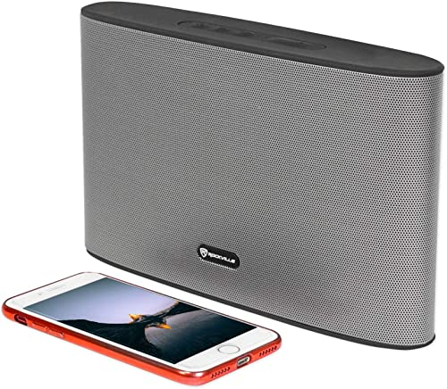Rockville ROCKWAVE Rechargeable Portable Slim Bluetooth Speaker with USB TF FM