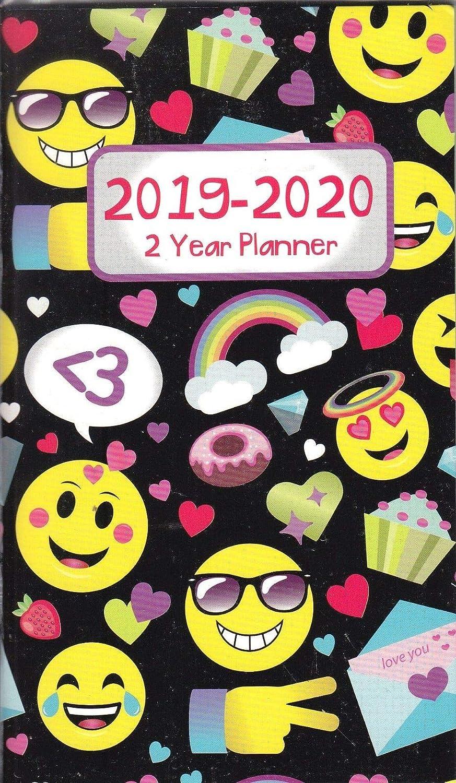 2019-2020 Emoji - Agenda de bolsillo (2 años): Amazon.es ...