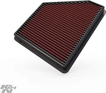 K&N Engine Air Filter: High Performance, Premium, Washable, Replacement Filter: 2010-2015 Chevy Camaro, Camaro SS, Camaro ZL1, 33-2434