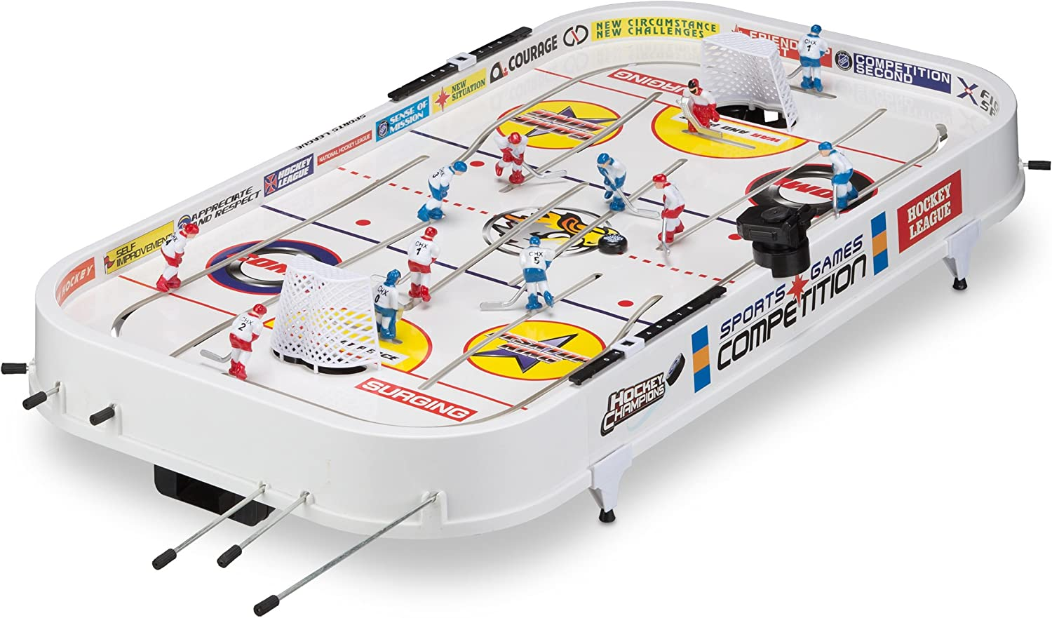 Relaxdays Juego de Mesa Air Hockey Grande, Color Blanco (10021752 ...