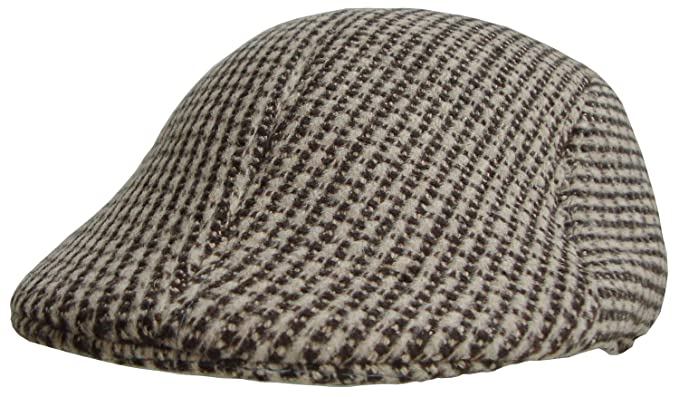 98b171a51e Mens Flat Caps in Dogtooth Pattern (Brown): Amazon.co.uk: Clothing