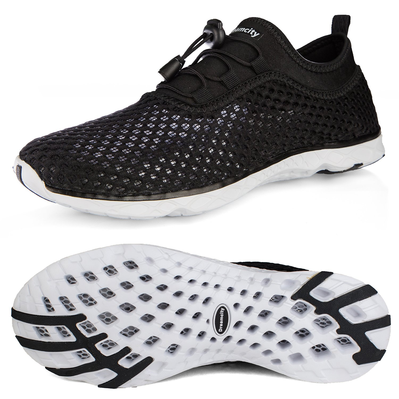 Dreamcity Women's Water Shoes Athletic Sport Lightweight Walking Shoes B07D4J63ZD 7 B(M) US,Black White 789