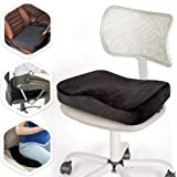 Aeris Memory Foam Seat Cushion for Office Chairs-Car Seat Cushion for Sciatica Pain-Carry Handle- Washable Soft Velour…