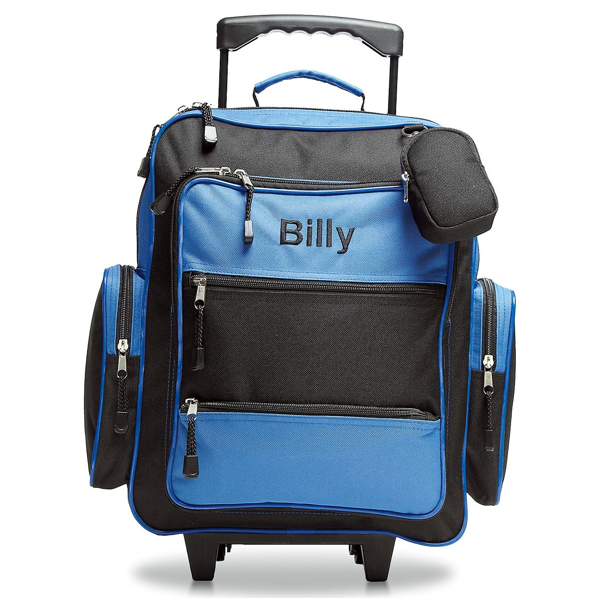 Blue and Black Personalized Kids Rolling Luggage- 5 x 12 x 16.75H, Kid's Travel Bag Kid' s Travel Bag 014845