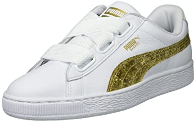 lowest price 859c9 f7616 PUMA Women's Basket Heart Glitter Wn Sneaker
