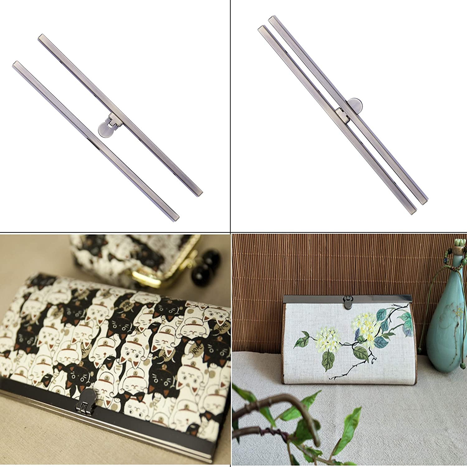 Bag Supplies for Purse Making,Bag Making,Leather Craft DIY 6 Pieces Clasp Lock Packs,MIUSIE 7.48Inch Metal Purse Frame Kiss Clasp Lock with Comfortable Grip
