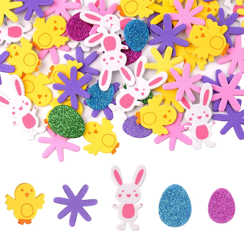 Foam Flower Crafts Project Wall Sticker for Kids Bedding Room Decor 80pcs