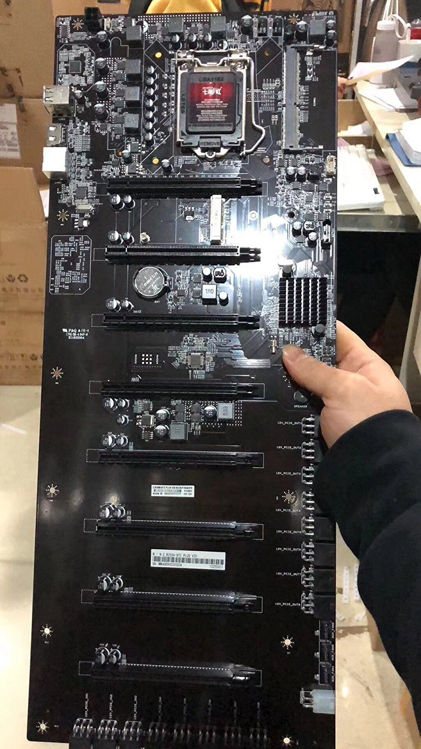COLORFUL Mining Motherboard 8 Graphics Cards LGA1151 Colorful C.B250A-BTC PLUS BTC ETH For Antminer Mining Mainboard