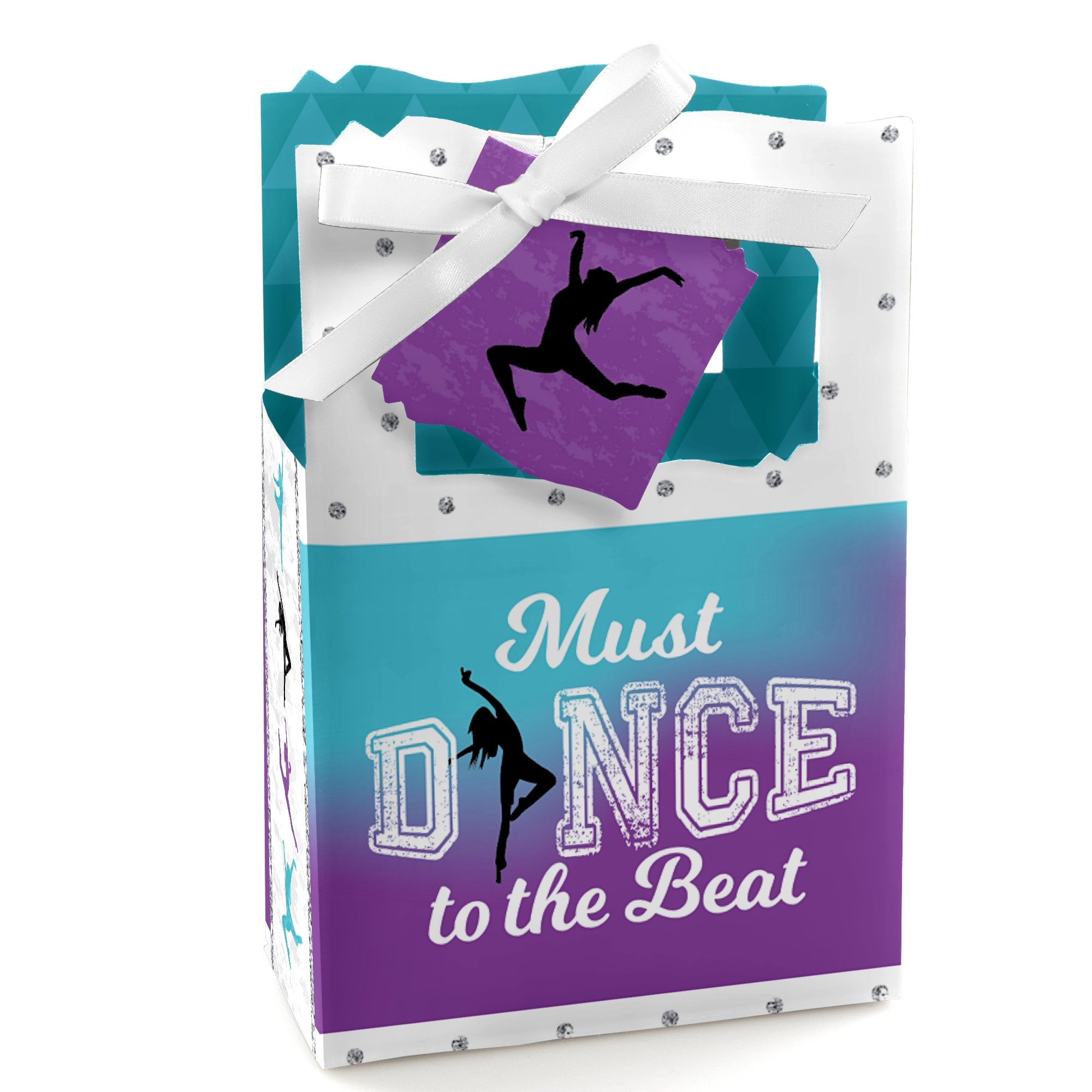 Big Dot of Happiness Must Dance to the Beat - Dance - Birthday Party or Dance Party Favor Boxes - Set of 12