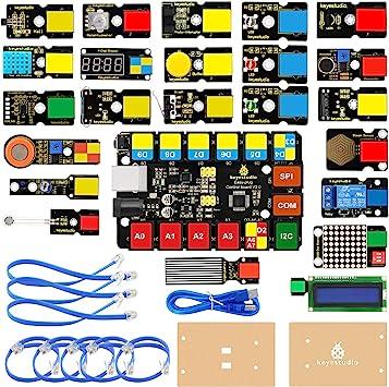 KEYESTUDIO Easy Plug Super Starter Kit para Arduino/Mixly, Kit de ...