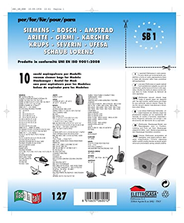 Amazon.com: Elettrocasa Sacch. Elettrocasa X Siemens SB1 ...