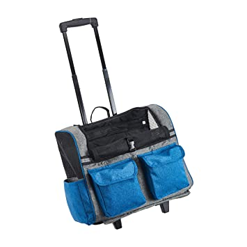 134c9db7be5 Maxmer Portable Pet Carrier Bag Dog Cat Rolling Backpack with Integrated  Trolley and Telescopic Handle,