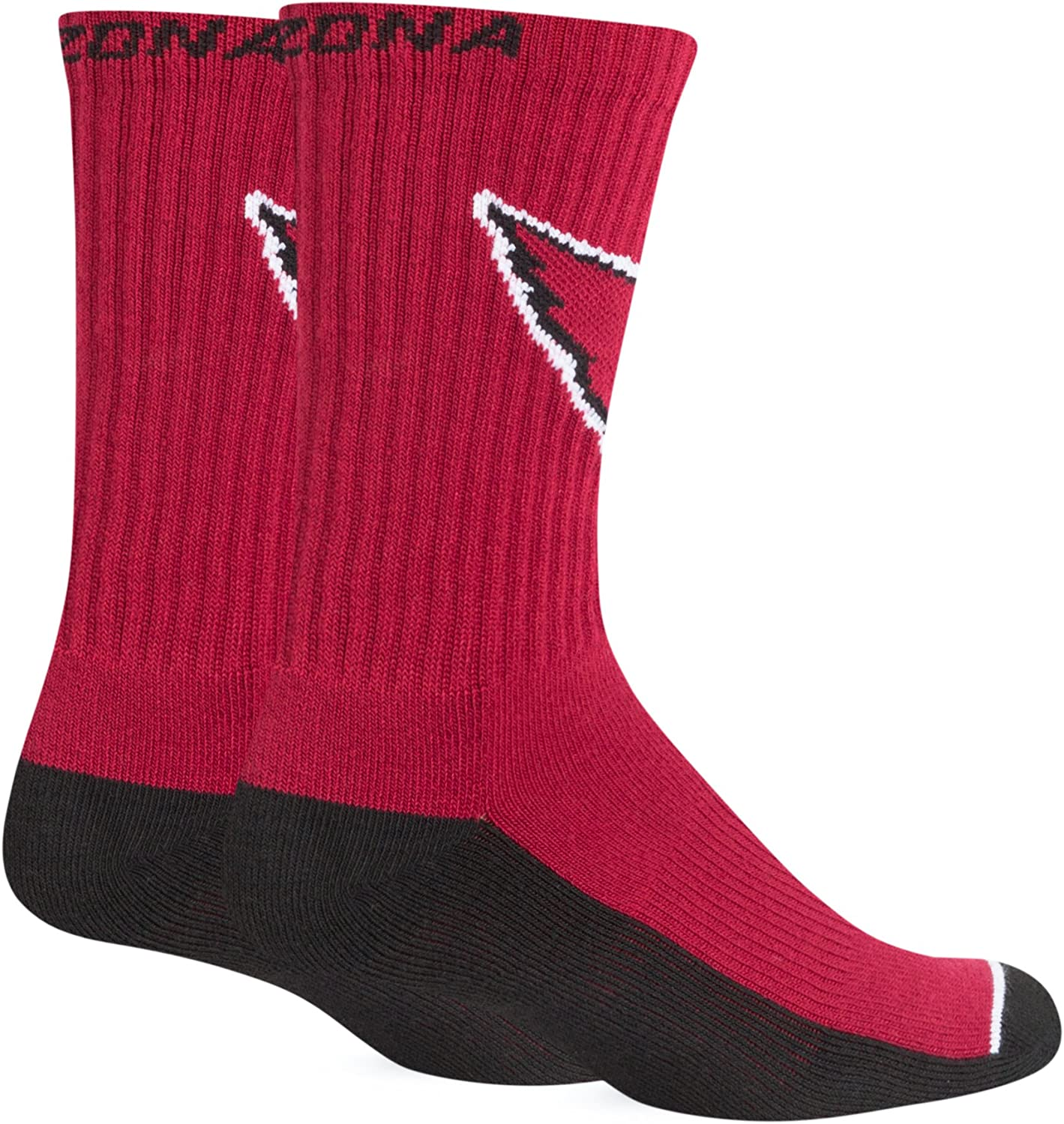 Team Color NFL Mens Arizona Cardinals OTS Rigby Sport Sock Large