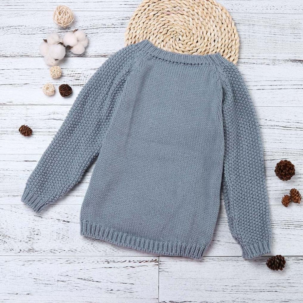 FEITONG Toddler Little Girls Sweater Knit Pullovers Warm Coat Outerwear Clothes