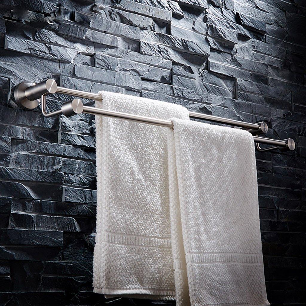 タオル棚/多機能タオル棚SUS304ステンレスタオル収納壁掛けバスタオルレール、バス用シングルタオルバー (サイズ さいず : 80センチメートル) B07DNS7T1R80センチメートル