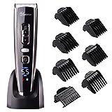 Haarschneider für Männer Haarschneider Maschine Profi Mit Titanium Keramik Klinge,LED-Display,Lithium-Batterie,Ladegerät Stand,WiederaufladbareUSB#Hatteker RFC-6618