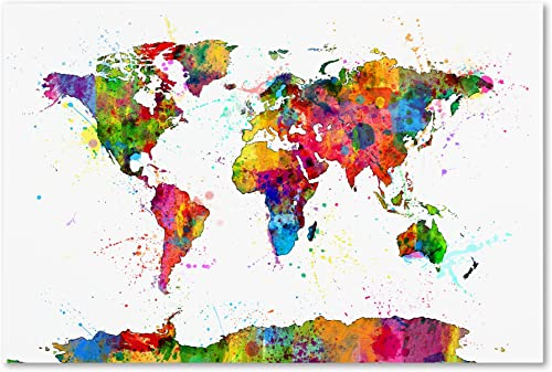Map of The World Watercolor
