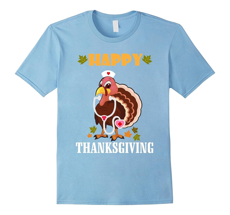 Nurse Turkey Costume Happy Thanksgiving Funny T-Shirt-ANZ