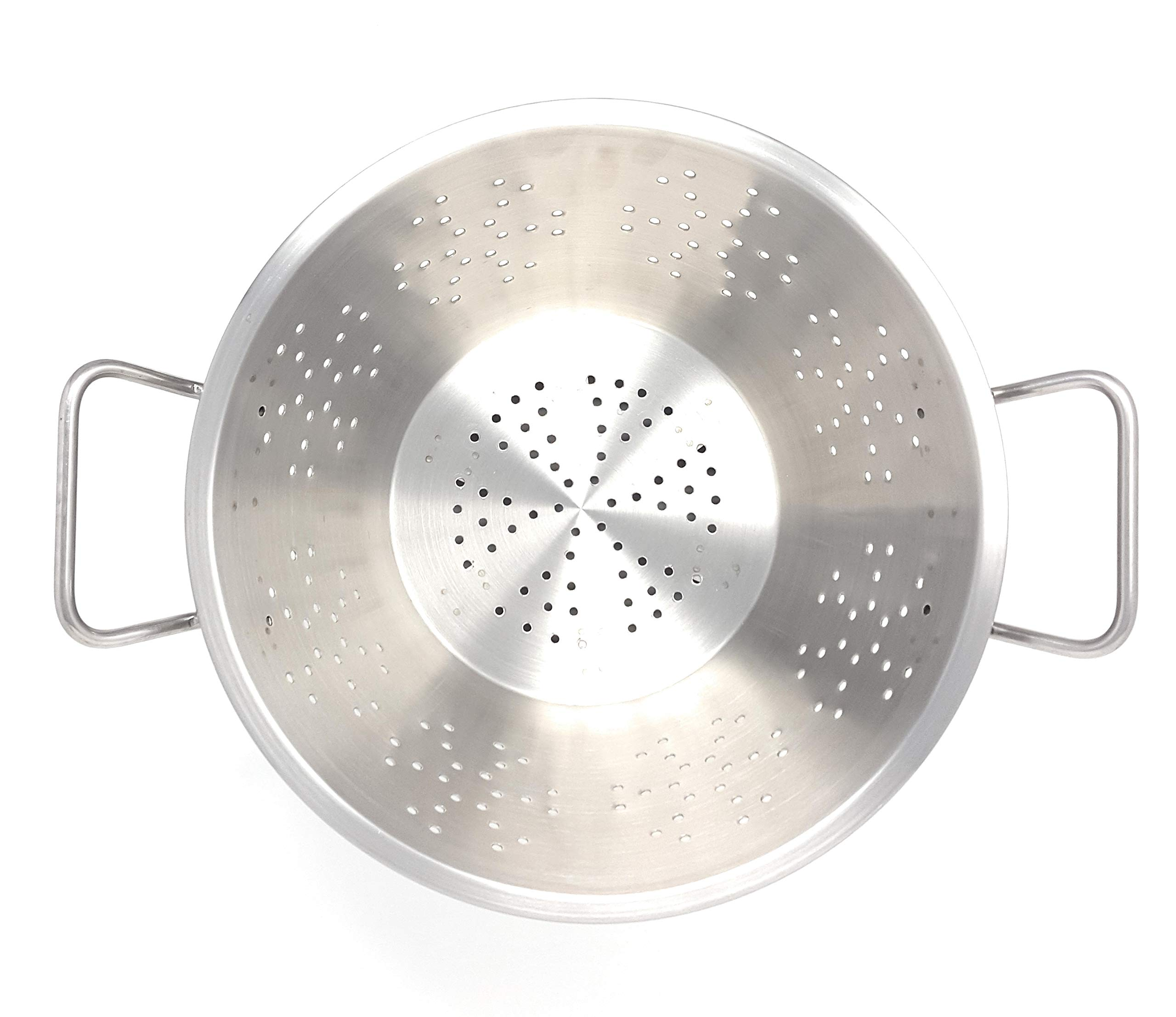 Heavy Duty Stainless Steel Professional 8.0 Quart Conical Colander - Commercial Cookware. by Avon Appliances