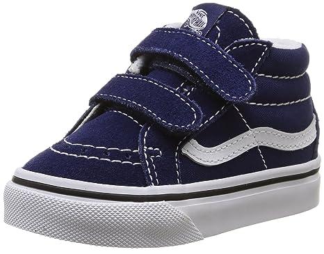 8c1eec7c0530 Vans Toddlers Sk8-Mid Reissue V Patriot Blue True White Skate Shoe 7.5  Infants