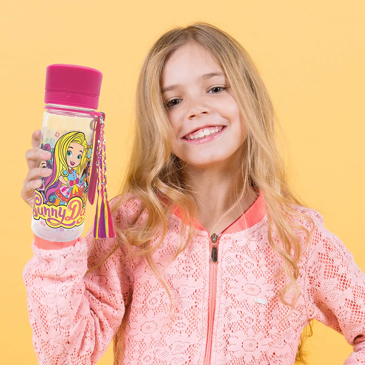Sunny Day Color Your Own Water Bottle by Horizon Group USA Multicolor