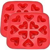 Fairly Odd Novelties Heart Shape Flexible Ice Cube Red Rubber Novelty Gag Gift, 2-Pack