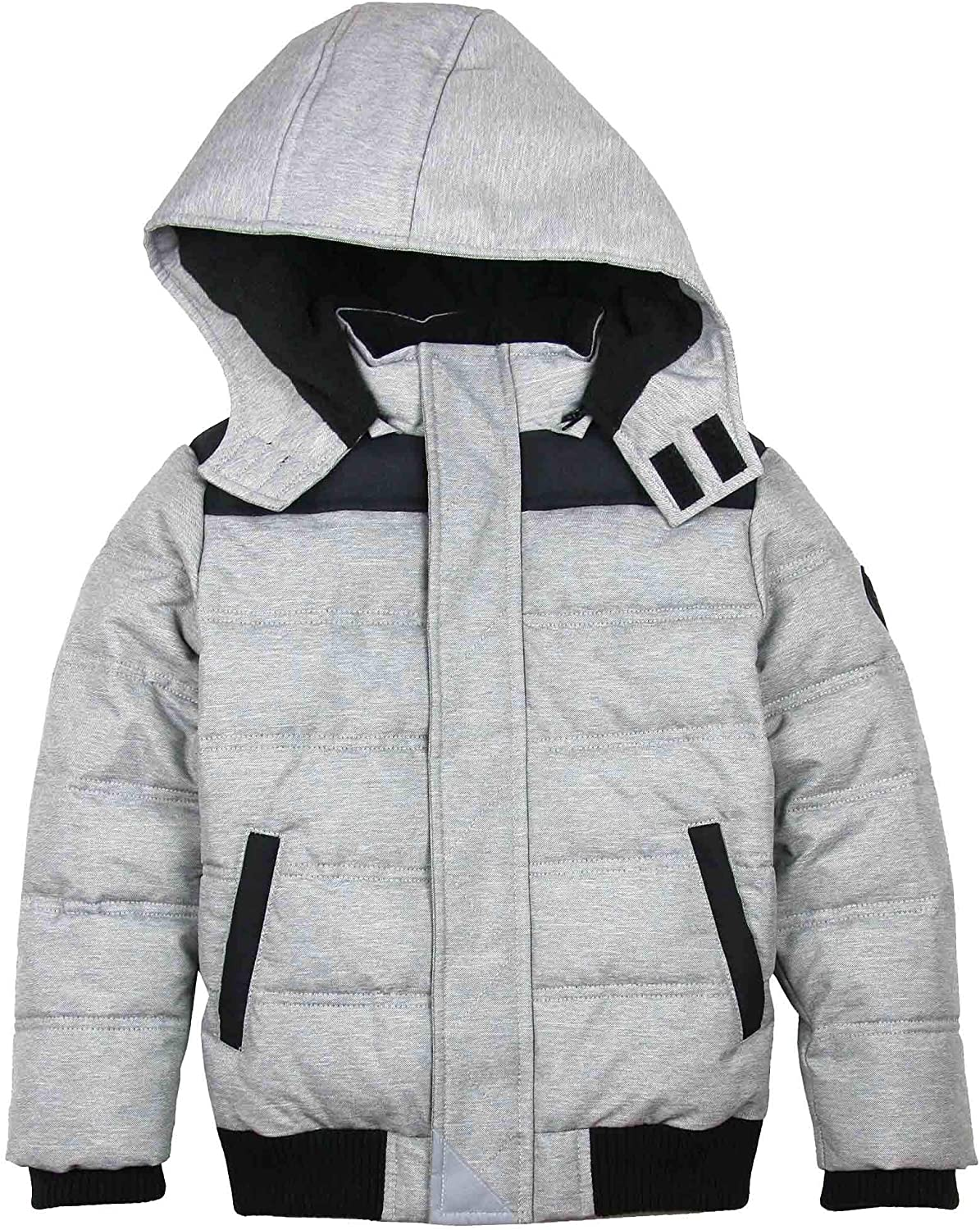 Sizes 4-12 3Pommes Boy/'s Quilted Puffer Coat