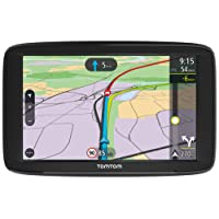 TomTom Via 62 Europe Traffic Navigationsgerät (15 cm (6 Zoll), Sprachsteuerung, Bluetooth Freisprechen, Fahrspurassistent, 3 Monate Radarkameras (auf Wunsch), Karten von 48 Ländern Europas) schwarz