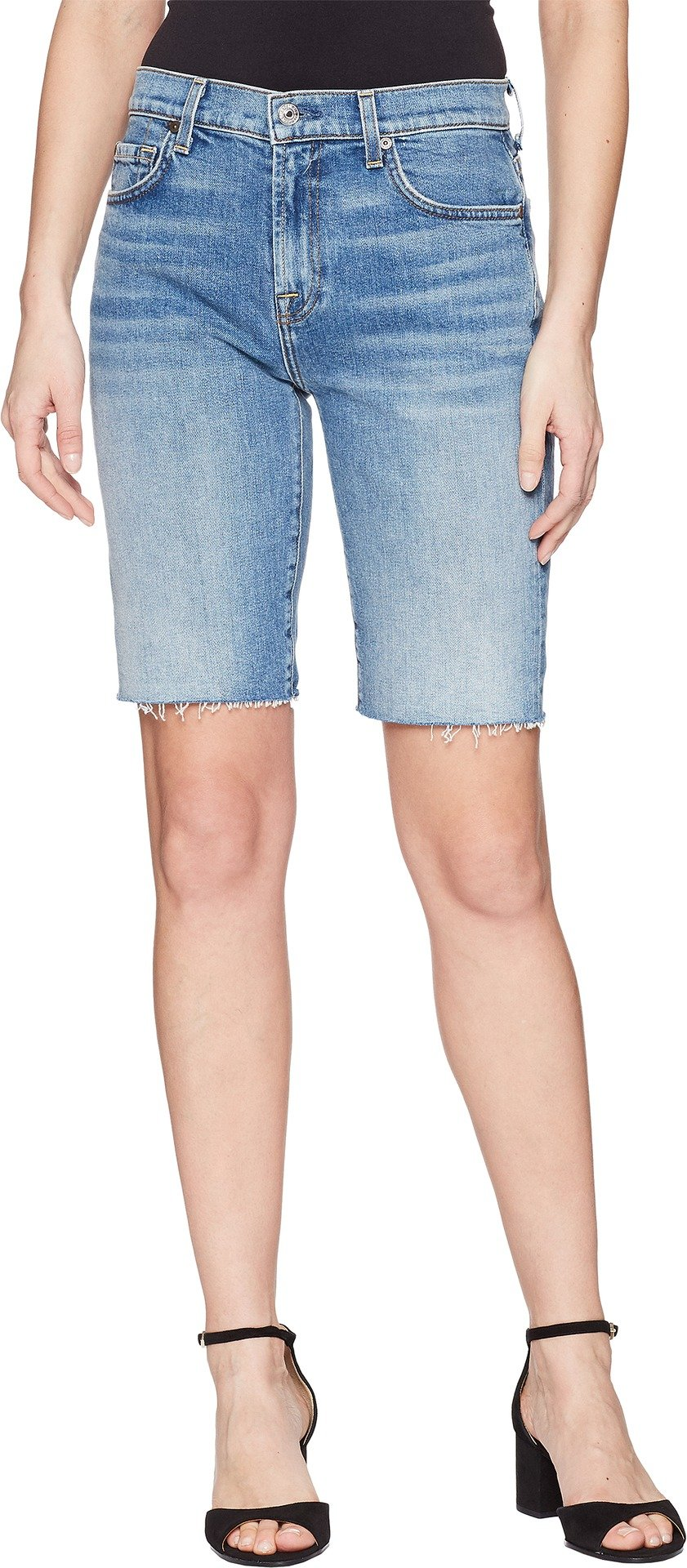 7 For All Mankind Women's High Waist Bermuda Shorts, Desert Oasis, 26