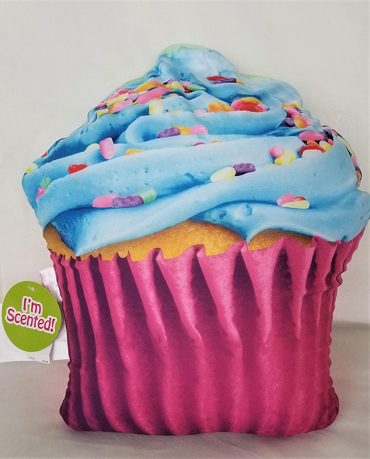 Justice Cupcake Scented Plush Pillow Microbead Accent Pillow Cupcake Design Microbead Fill 17
