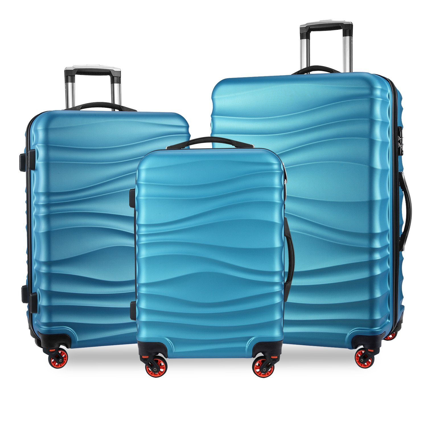 YUTING Luggage Expandable Suitcase 3 Piece Set with TSA Lock Spinner 20in24in28in