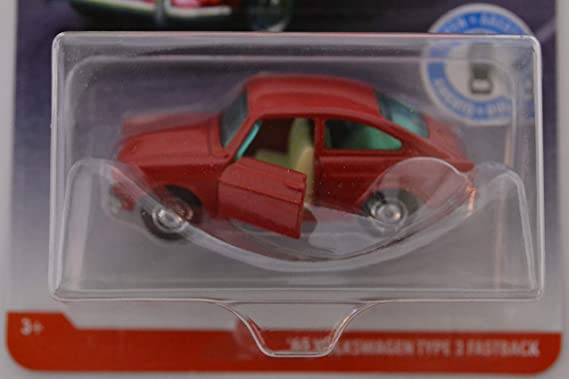 Amazon.com: Matchbox Red 65 Volkswagen Type 3 Fastback 2018 Moving Parts Road Trip Series 1:64 Scale Collectible Die Cast Metal Toy Car Model with Opening ...